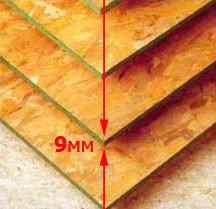 Древесные OSB плита, толщина 18 мм, размер 2500*1250