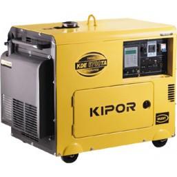 Дизельный генератор KDE6700TA+KPATS-26-3KIPOR Номинальная мощность: 4,5 кВт, Макс. мощность: 4,5 кВА