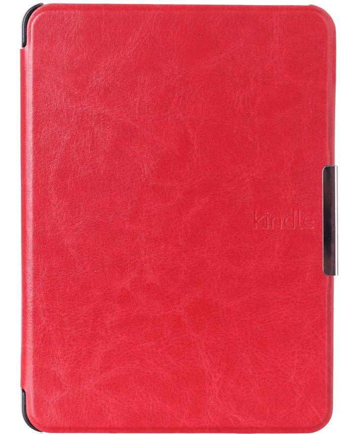 Кожаный чехол для Amazon Kindle Voyage (красный)