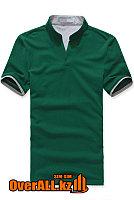 Зелено-серая футболка поло, фото 1