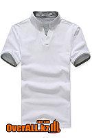 Бело-серая футболка поло, фото 1