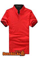 Красно-черная футболка поло, фото 1