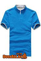 Голубо-серая футболка поло, фото 1