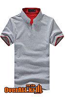 Серо-красная футболка поло, фото 1