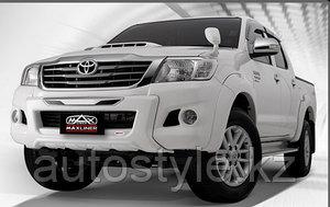 Накладка бампера (губа) Toyota Hilux 2012-2015 г.в.