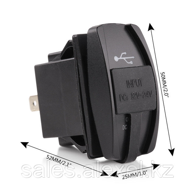 Автомобильное USB зарядное устройство в виде авто кнопки, размеры
