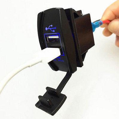 Автомобильное USB зарядное устройство в виде авто кнопки, подключение
