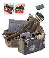 Органайзер для сумки «СУМКА В СУМКЕ» цвет серый Dual Bag In Bag