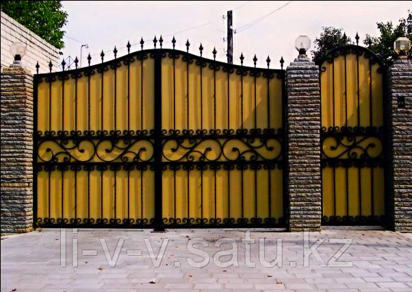 Ворота металлические с установкой