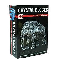 "3d Crystal Puzzle головоломка ""Слон"""