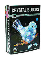 "3d Crystal Puzzle головоломка ""Птичка на ветке, с подсветкой"""