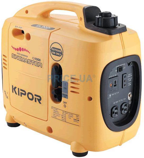Генератор IG1000 KIPOR  (Номинальная мощность: 0,9 кВт, Максимальная мощность: 0,9 кВА)