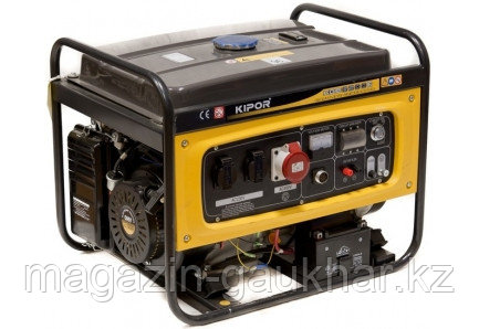 Бензиновый генератор KGE6500E KIPOR (Номинальная мощность: 5 кВт, Максимальная мощность: 5 кВА)