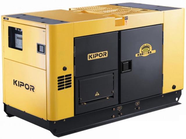 Дизельный генератор KDE35SS KIPOR  (Номинальная мощность: 30 кВт, Максимальная мощность: 30 кВА)
