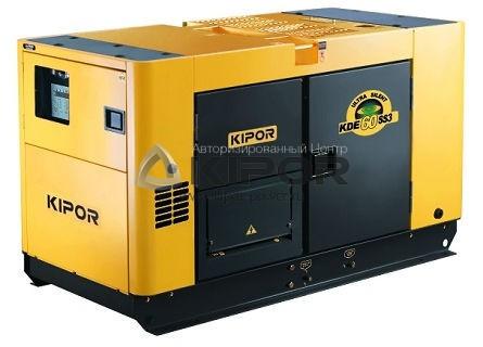 Дизельный генератор KDE60SS3+KPEC40075DQ52AKIPOR Номинальная мощность: 40 кВт, Макс. мощность:50 кВА