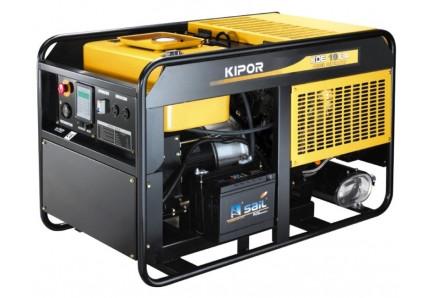 Дизельный генератор KDE16EA+KPEC40050DP52AKIPOR Номинальная мощность: 10,8 кВт, Макс.мощность:12 кВА