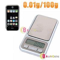 Карманные ювелирные весы 0,01 г. - 100 г. выполненные в форме iPhone