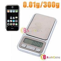 Карманные ювелирные весы 0,01 г. - 300 г. выполненные в форме iPhone, фото 1
