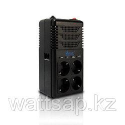 Стабилизатор (AVR), SVC, AVR-1008-G, 800VA, Индикация режимов работы, Диапазон работы AVR: 170-277В, 4 вых., 1 м., Чёрный