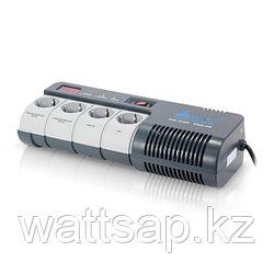 Стабилизатор (AVR), SVC, AVR-1012-G, 1200VA, LED, Индикация режимов работы, Диапазон работы AVR: 160-280В, 4 вых., 1.2 м., Серый