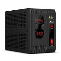 Стабилизатор (AVR), SVC, AVR-2000(2000Вт), LED-индикаторы, Диапазон работы AVR: 140-280В, 2 вых., 1.2 м., Чёрный, фото 1