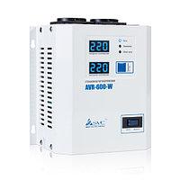 Стабилизатор (AVR), SVC, AVR-600-W(600Вт), LED-дисплей, Диапазон работы AVR: 140-280В, 2 вых.: Shuko CEE7, Длина кабеля 1.2 м., Белый