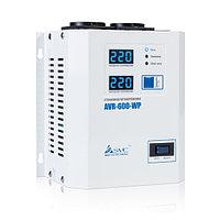 Стабилизатор (AVR), SVC, AVR-600-WP(600Вт), LED-дисплей, Диапазон работы AVR: 100-270В, 2 вых.: Shuko CEE7, Длина кабеля 1.2 м., Белый