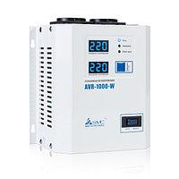 Стабилизатор (AVR), SVC, AVR-1000-W(1000Вт), LED-дисплей, Диапазон работы AVR: 140-280В, 2 вых.: Shuko CEE7, Длина кабеля 1.2 м., Белый, фото 1