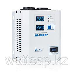 Стабилизатор (AVR), SVC, AVR-1000-WP(1000Вт), LED-дисплей, Диапазон работы AVR: 100-270В, 2 вых.: Shuko CEE7, Длина кабеля 1.2 м., Белый