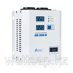 Стабилизатор (AVR), SVC, AVR-2000-W(2000Вт), LED-дисплей, Диапазон работы AVR: 140-280В, 2 вых.: Shuko CEE7, Длина кабеля 1.2 м., Белый