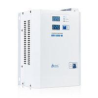 Стабилизатор (AVR), SVC, AVR-5000-W(5000Вт), LED-дисплей, Диапазон работы AVR: 140-280В, Клеммная колодка, Длина кабеля 1.2 м., Белый, фото 1