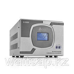 Стабилизатор (AVR), SVC, R-12000(10000Вт), LCD-дисплей, Диапазон работы AVR: 110-275В, Клеммная колодка, Серый