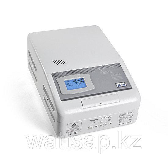 Стабилизатор (AVR), SVC, RW-9000(7000Вт), LCD-дисплей, Диапазон работы AVR: 110-275В, Клеммная колодка, Серый