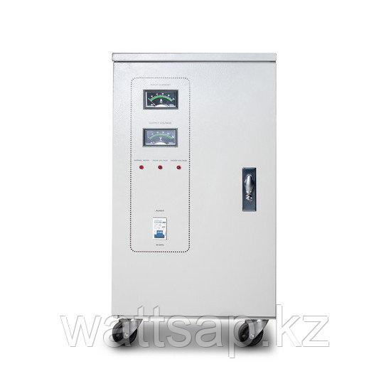 Стабилизатор, SVC, 3-45000(36000W), Трёхфазный, Индикация режимов работы, Диапазон работы AVR: 240-450В, Клеммная колодка, Бежевый