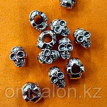 Бусины шармики для  браслета Пандора Череп