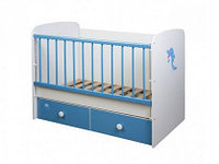 Кроватка Glamvers MAGIC цвет голубой+белый дельфин