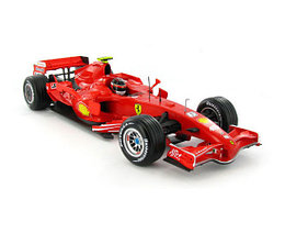 1/18 Hot Wheels Коллекционная машинка Ferrari Raikkonen 2007