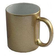Кружки для сублимации, перламутровая (золото)