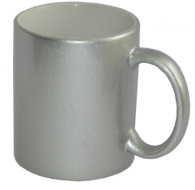 Кружки для сублимации, перламутровая (серебро)
