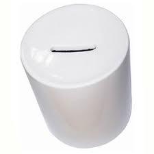Копилка керамическая, белая