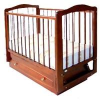 Кроватка детская Ксюша с 1 ящиком (бук,орех)