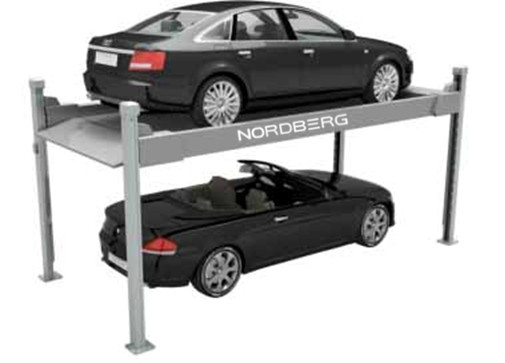 Парковка двухуровневая, четырехстоечная, г/п 3 тонны NORDBERG NB4-3T