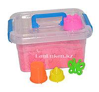 Кинетический песок для детей маленький (1 класс), живой песок (розовый), фото 1