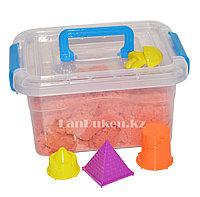Кинетический песок для детей маленький (1 класс), живой песок (оранжевый) , фото 1