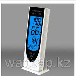 Электронный  термометр, гигрометр, часы, будильник HTC-8