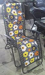 Кресло, шезлонг садовый (цветы)