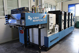 KBA Rapida 72-4 б/у 1993г - печатная машина четырехкраска