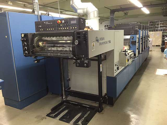 KBA Rapida 72-4+LX (с лаком) б/у 2000г - 4-красочная печатная машина