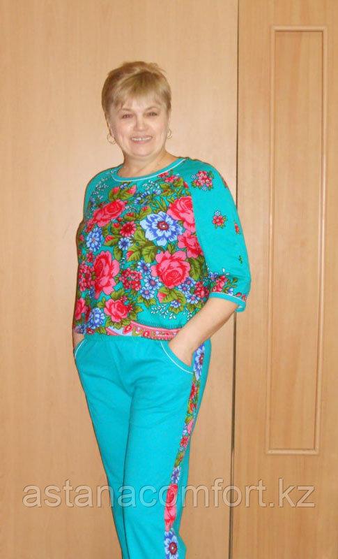 Женский трикотажный костюм. Хлопок. Россия.