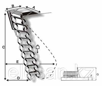Чердачные лестницы Oman, Fakro, Optistep в Алматы
